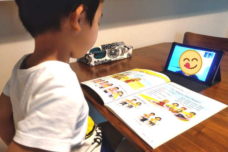 Let's Go英語教材を使ってオンライン英会話レッスンをする5歳