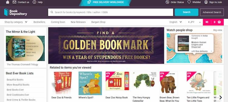 Book Depository公式サイトトップ