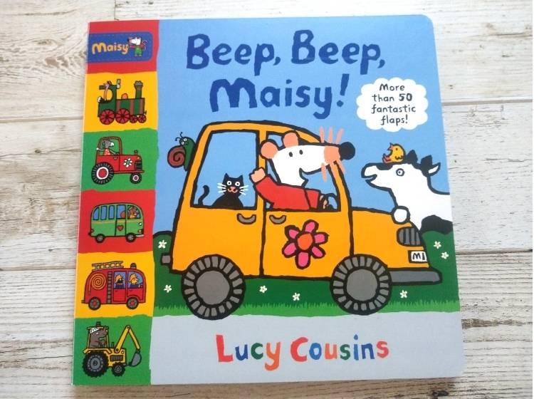 英語仕掛け絵本「Beep, Beep, Maisy!」表紙